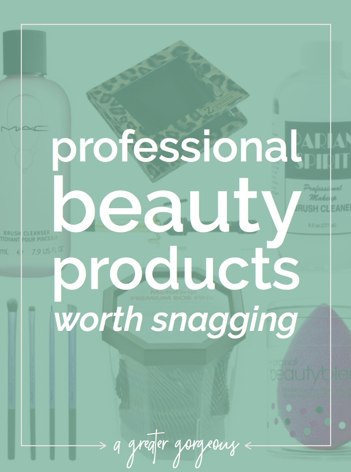 With all the options out there, how do you choose what's worth it? These professional products are worth introducing to your everyday beauty routine!