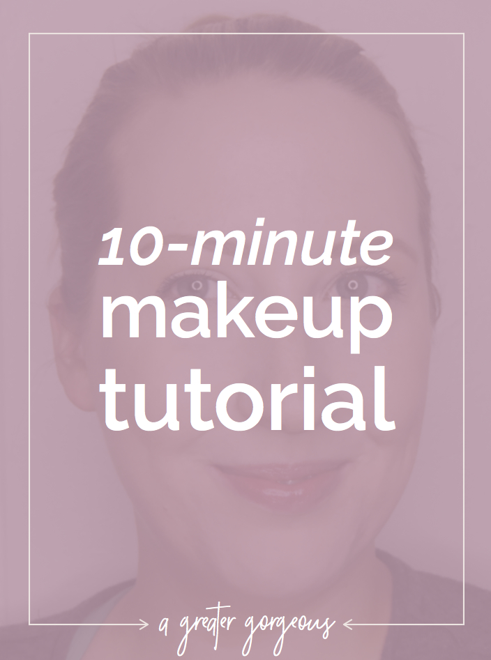 Nothing is better than being able to pull yourself together in 10 minutes! Click through for a 10-minute-makeup tutorial (both video and text!).