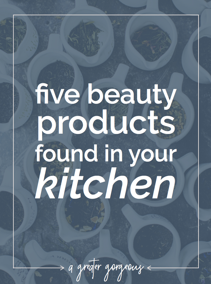 Sometimes when your skin & hair need a little pick-me-up, sometimes you don't have to go any further than your kitchen! Click through for five beauty products in your kitchen — plus one to avoid!