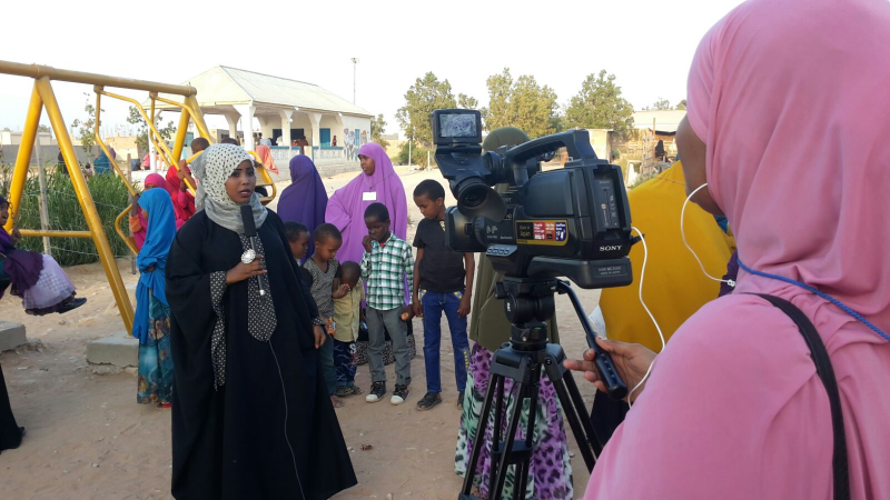 Female graduate of the USADF-funded journalism training program in Somalia