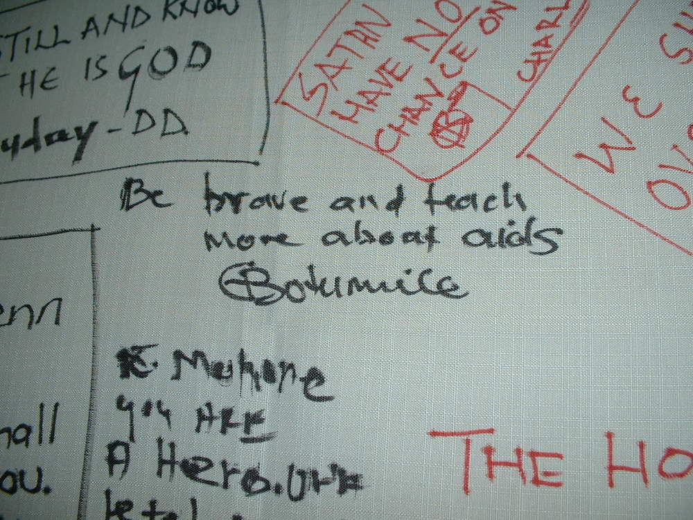 """""""Be brave and teach more about AIDS"""""""