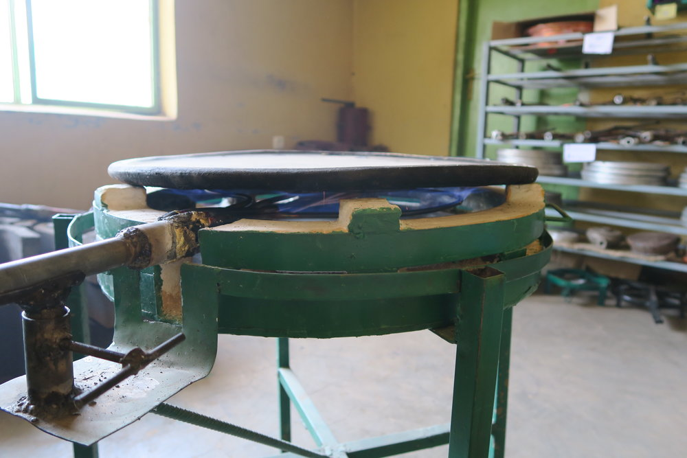 GM Energy piloted Ethiopia's first biogas-powered cookstove designed to evenly cook  injera , Ethiopia's main staple food