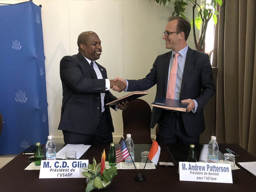 A multi-year partnership between Bechtel and USADF was announced during a press conference in Abidjan, Cote d'Ivoire on Monday 2 July.