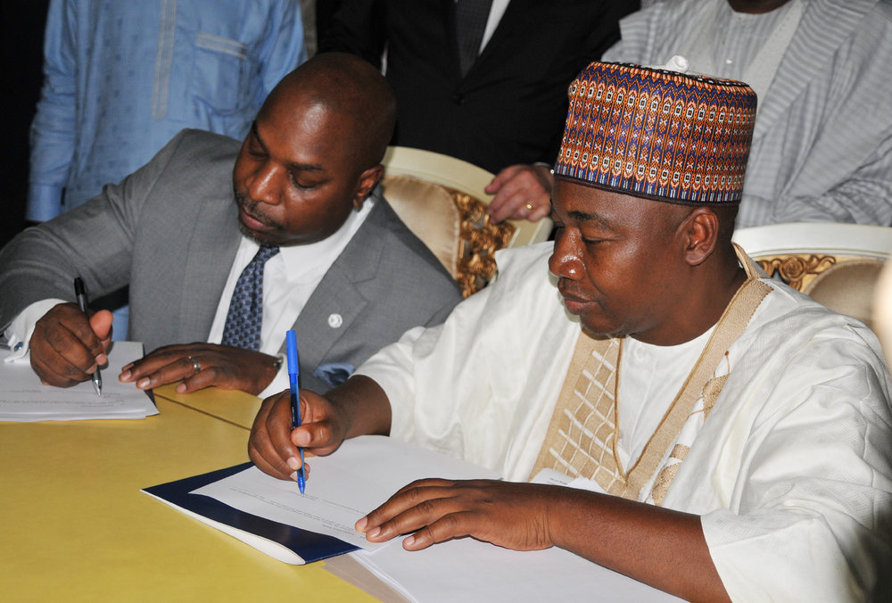 Abuja, Nigeria - The President & CEO of U.S. African Development Foundation (USADF) and the Governor of Kebbi State, Nigeria signed a 5-year, $10 million dollar Memorandum of Understanding (MOU).