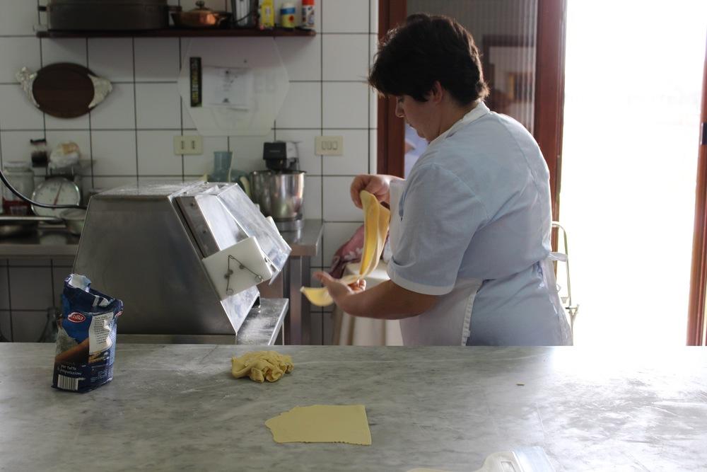 Make pasta in Italy