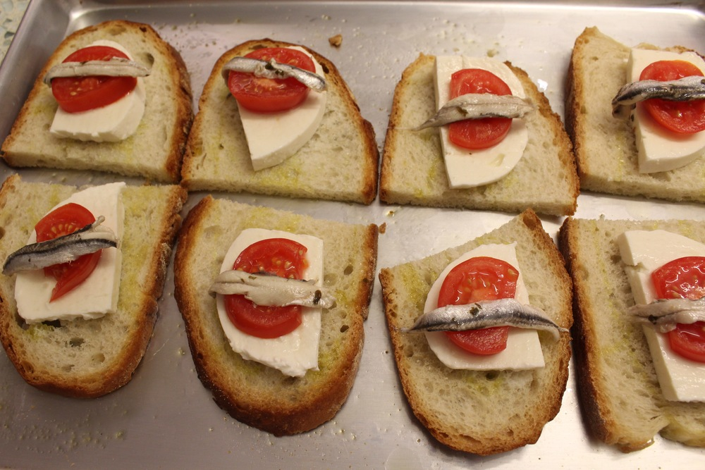 Bruschetta Napoletana right before they go in the oven