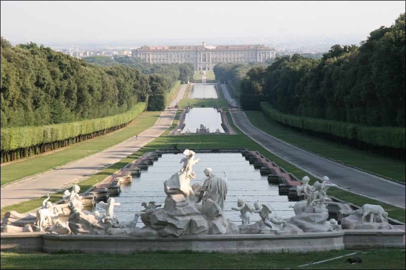 The Royal Palace at Caserta, home to the Bourbons of Naples is like the Versailles of Southern Europe