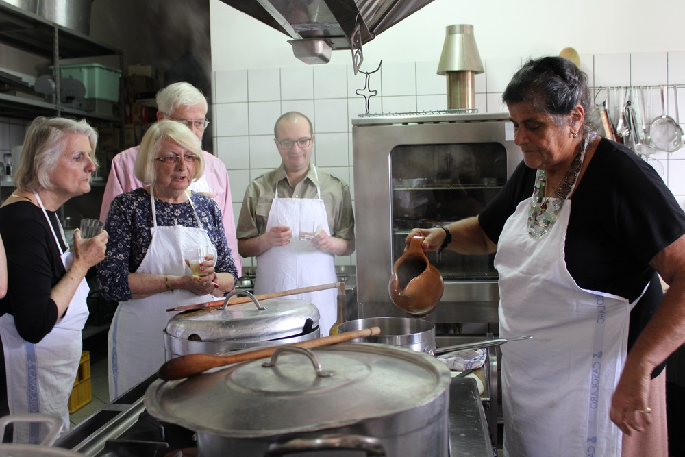 Cooking with the Baronessa at her farmhouse on the Sele plain