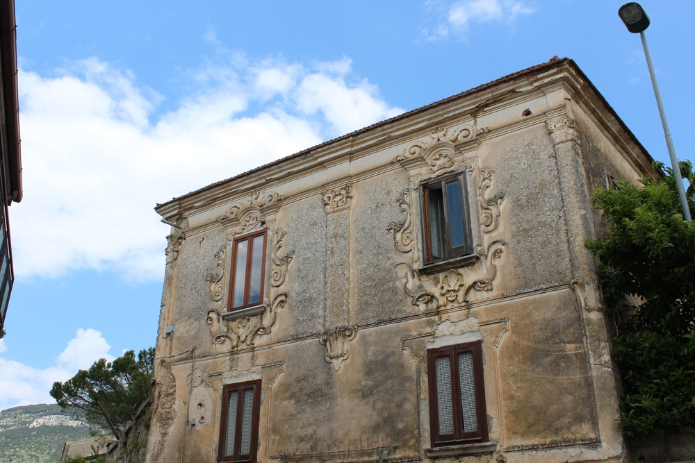 An old palazzo in Capaccio, a mountain village in the Cilento region of Southern Italy that overlooks the Tyrrhenian Sea