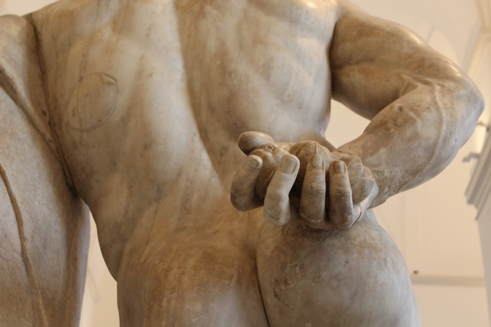 Close-up of the Farnese Hercules