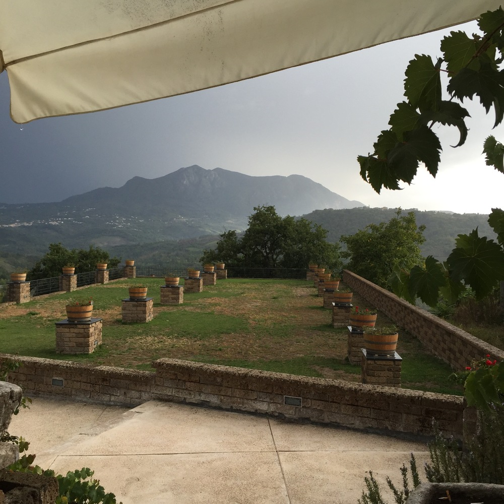 Beautiful vistas from Cantine Antonio Caggiano in Taurasi
