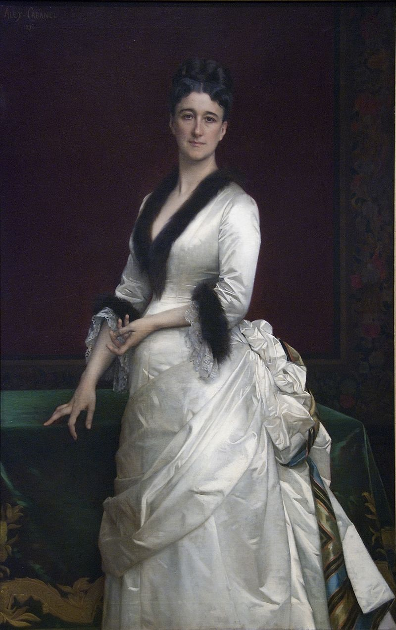 Philanthropist and art collector Catherine Lorillard Wolfe asked that the avenue that ran in front of her family's Belmont estate be named for her favorite president Chester A. Arthur.  Painting by Alexandre Cabanel
