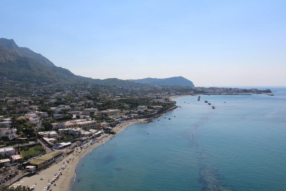 Forio beach on Ischia