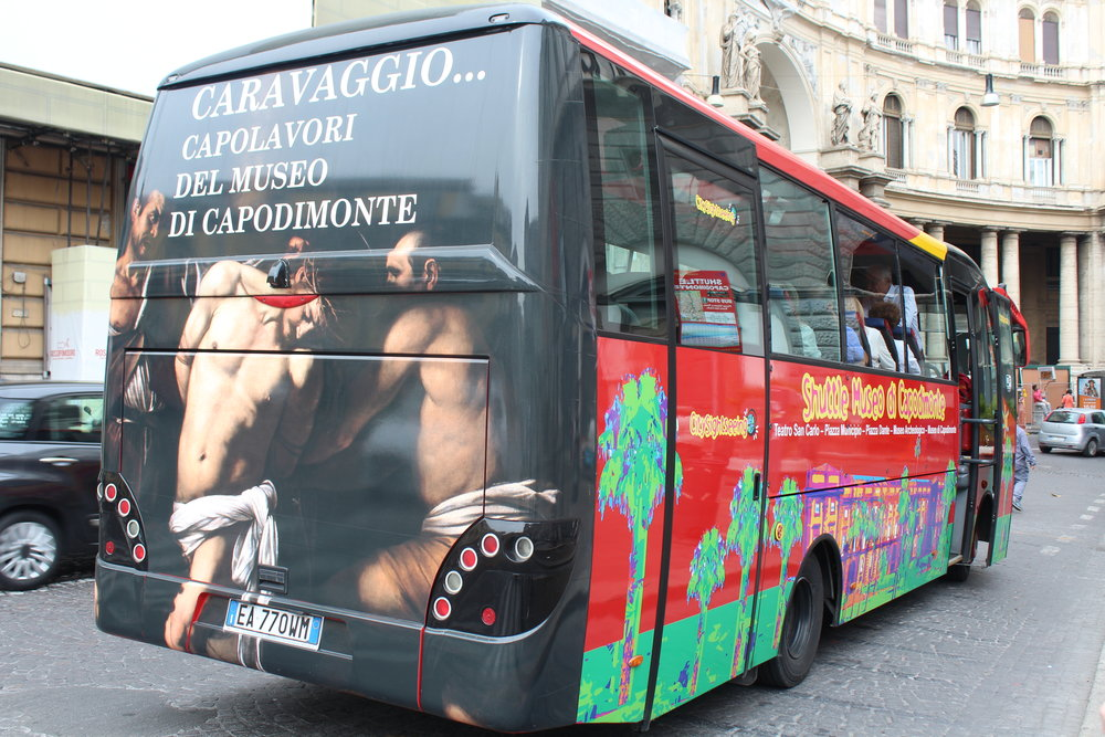 Shuttle bus from Piazza Trento e Trieste to Museo di Capodimonte is easy to spot and only costs €12 round-trip including museum admission.