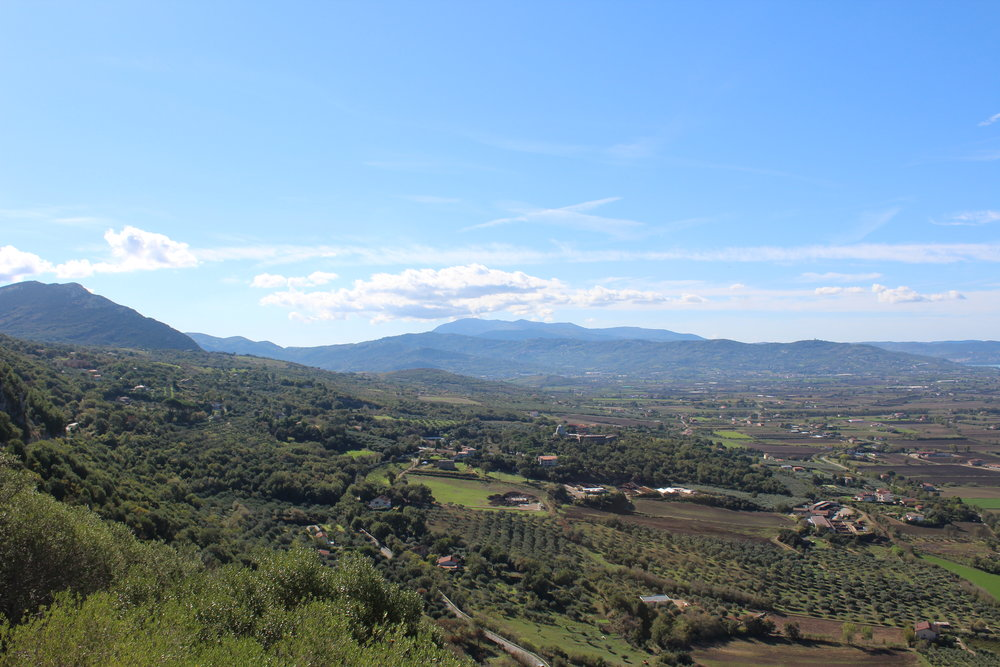 Cilento region looking southeast from the Sanctuary of the Madonna of the Pomegranate