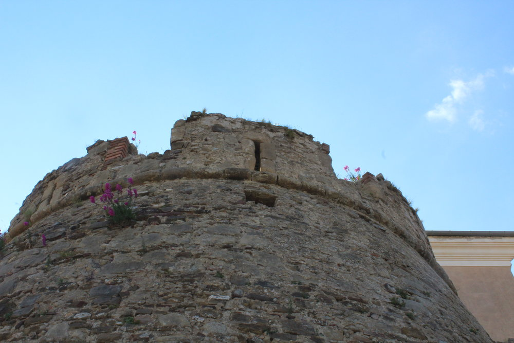 The tower from the medieval fortifications at Borgo Castellabate