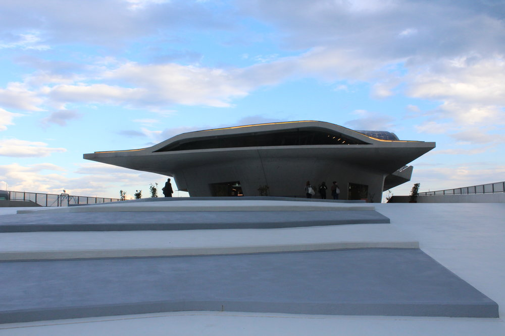 The new ferry terminal at Salerno designed by late architect Zaha Hadid.