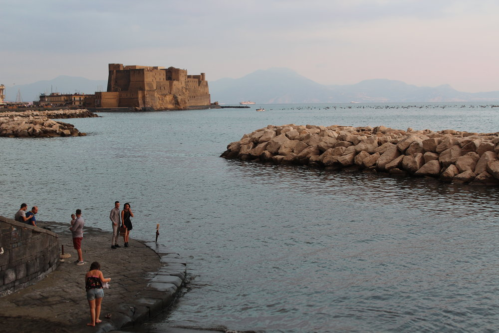 Castel dell'Ovo in the Bay of Naples