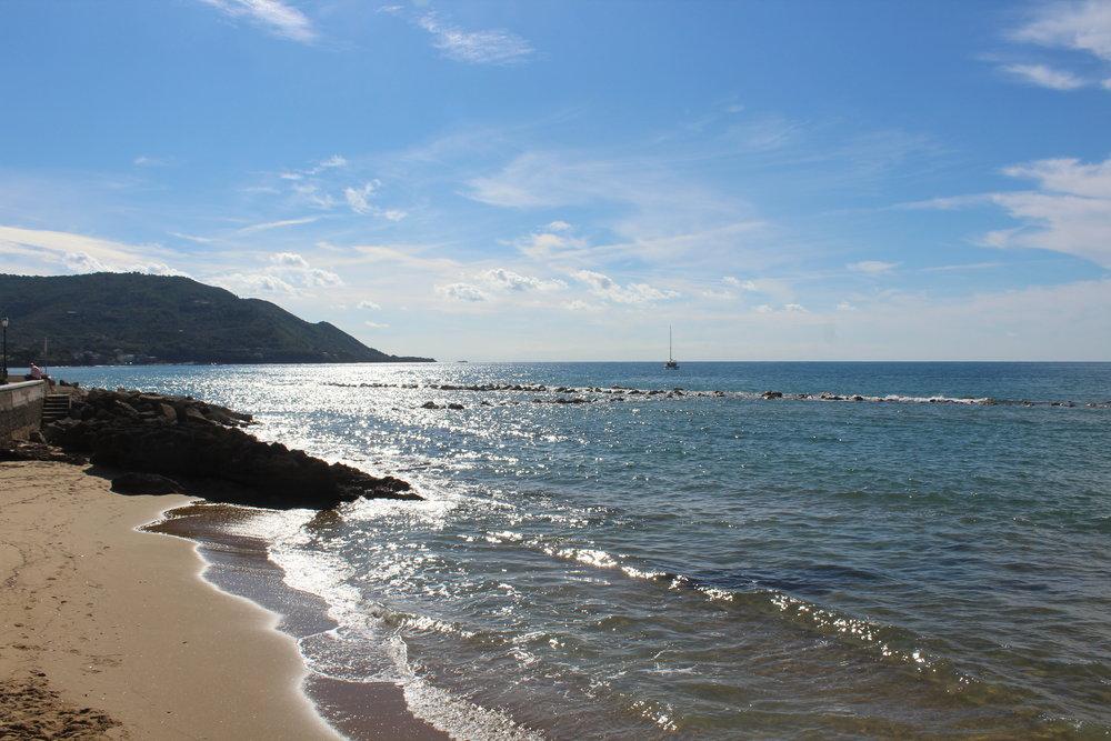 The beach at Santa Maria Castellabate