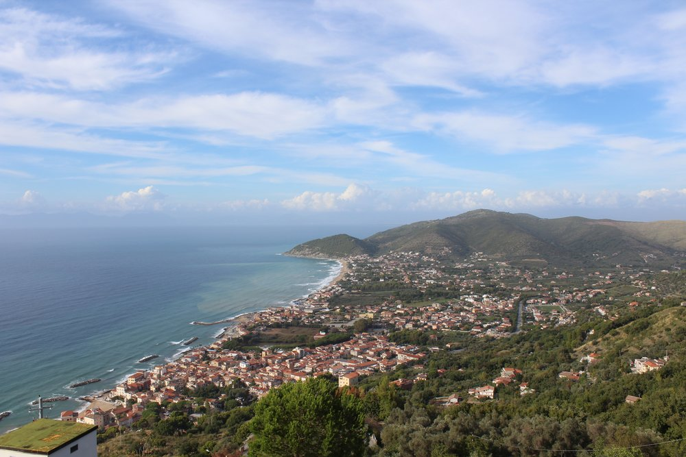 View from Castellabate, one of Italy's most beautiful villages