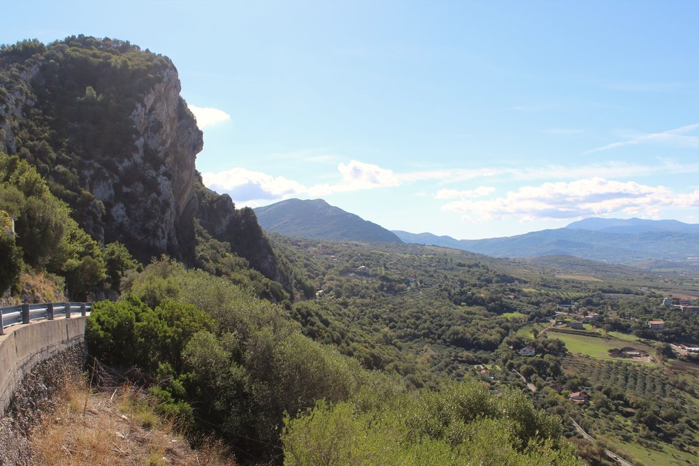 Overlooking the Sele Plain from the Sanctuary of the Madonna of the Pomegranate.
