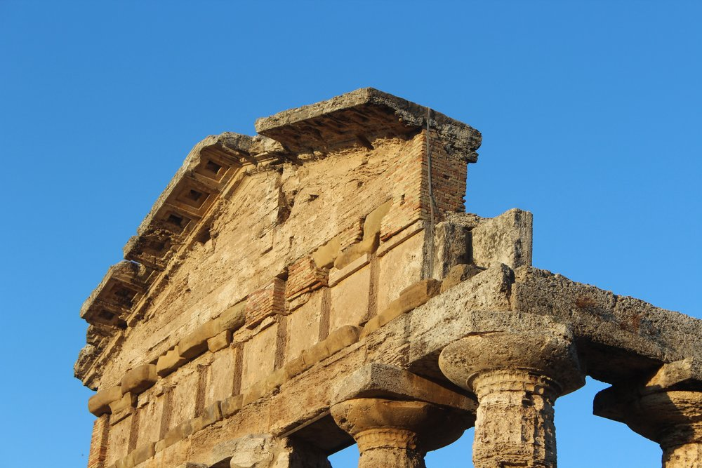 The temples at Paestum are 45 minutes away from the Salerno ferry terminal.