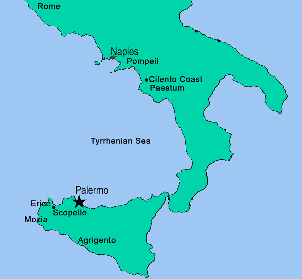 Campania Sicily small group tour