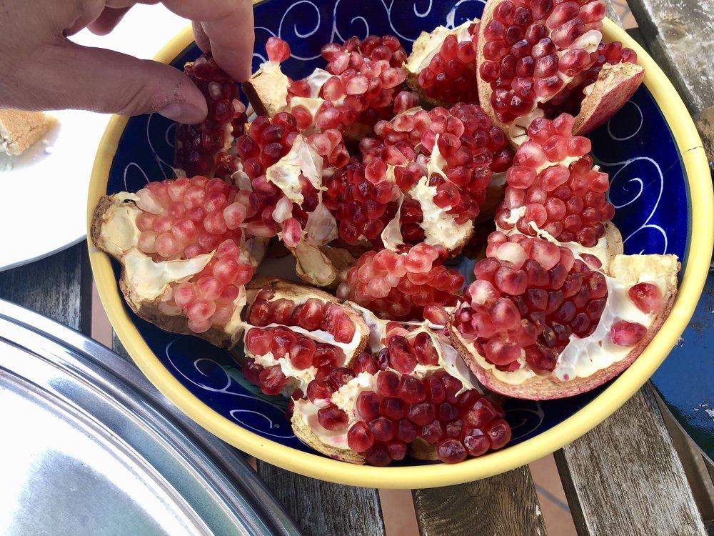 Pomegranates are the signature of the region