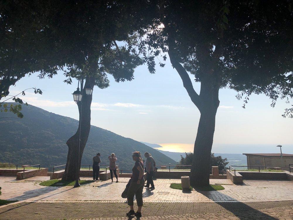 Piazza overlooking the sea in Capaccio