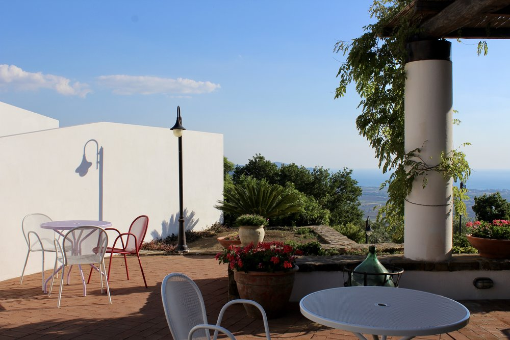 Breakfast terrace at Borgo La Pietraia