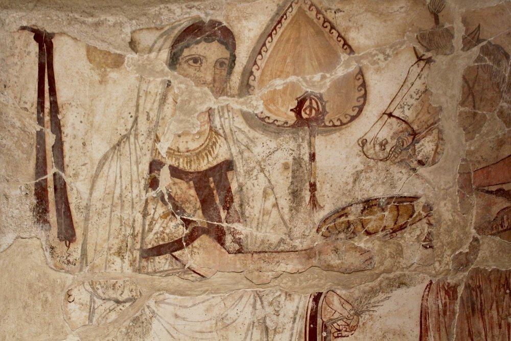 Lucanian tombs in museum vaults