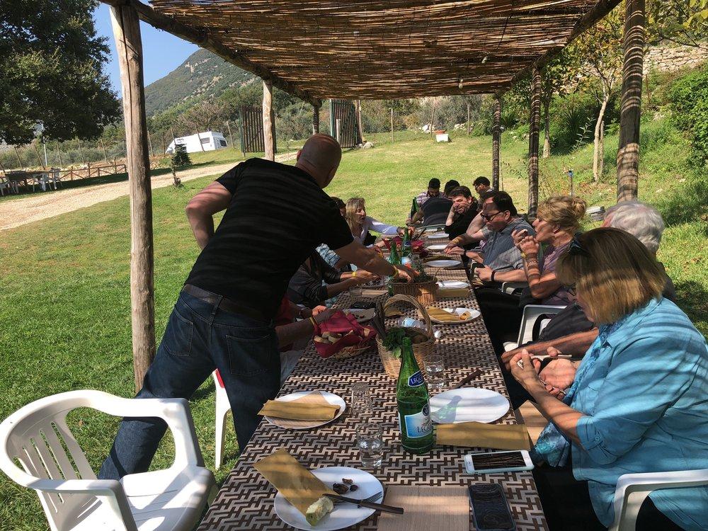 Lunch at Fattoria Cavallo