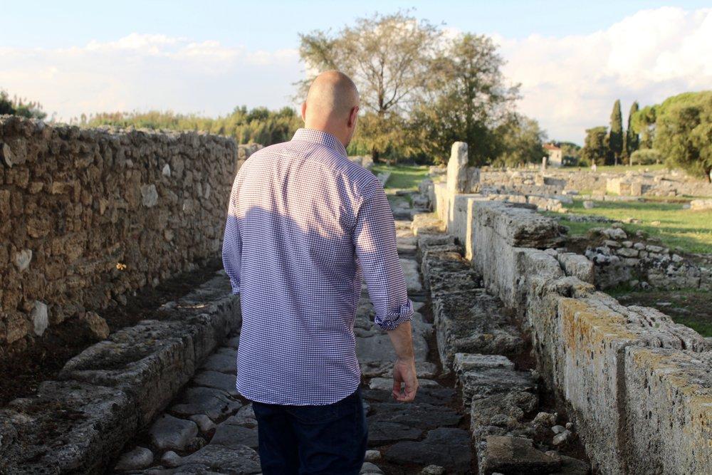 Roman roads at Paestum