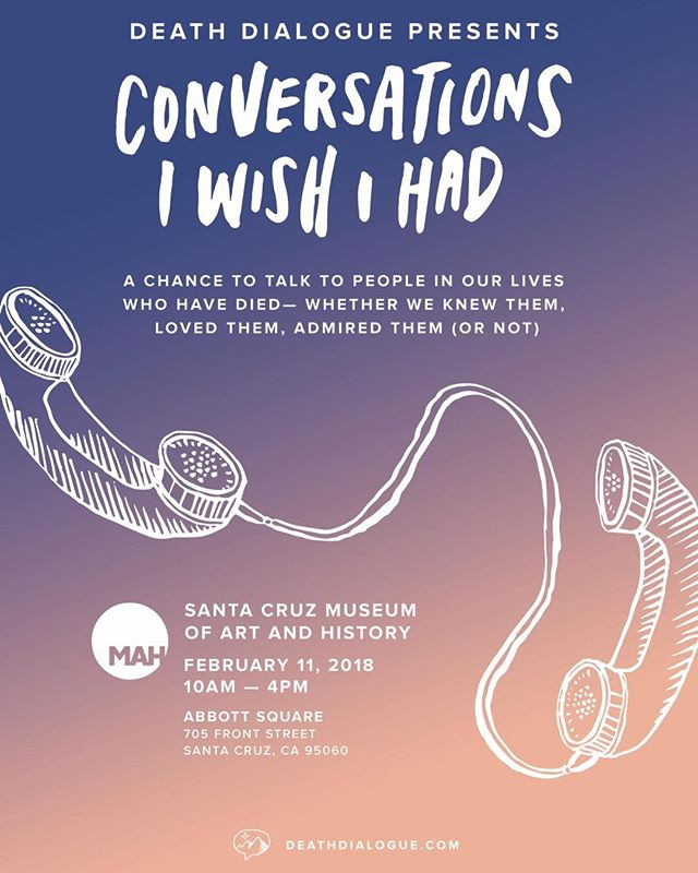 Today is the day! #conversationsiwishihad is joining the @santacruzmah for their Spoken/Unspoken exhibition. Join me and the phone booth in Abbott Square from 10-4!