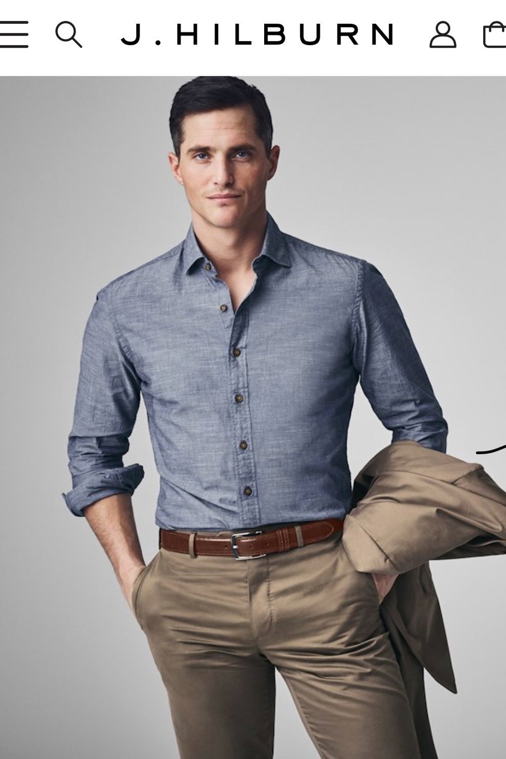 Get your very own custom-made men's shirt from J. Hilburn. You pick the fabric, they take your measurements, and voila!   Value: $150