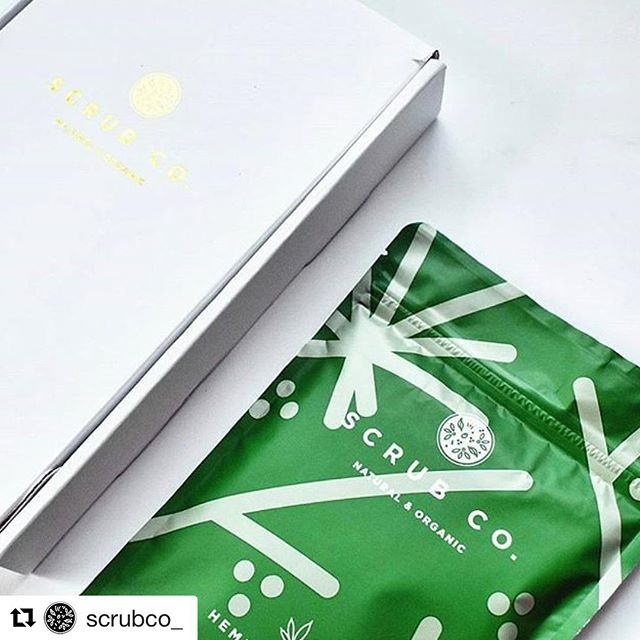 Nice to see the Scrub Co. packaging out in the wild! Some great photos of them floating around Instagram. #graphicdesign #packagingdesign #packaging #pattern