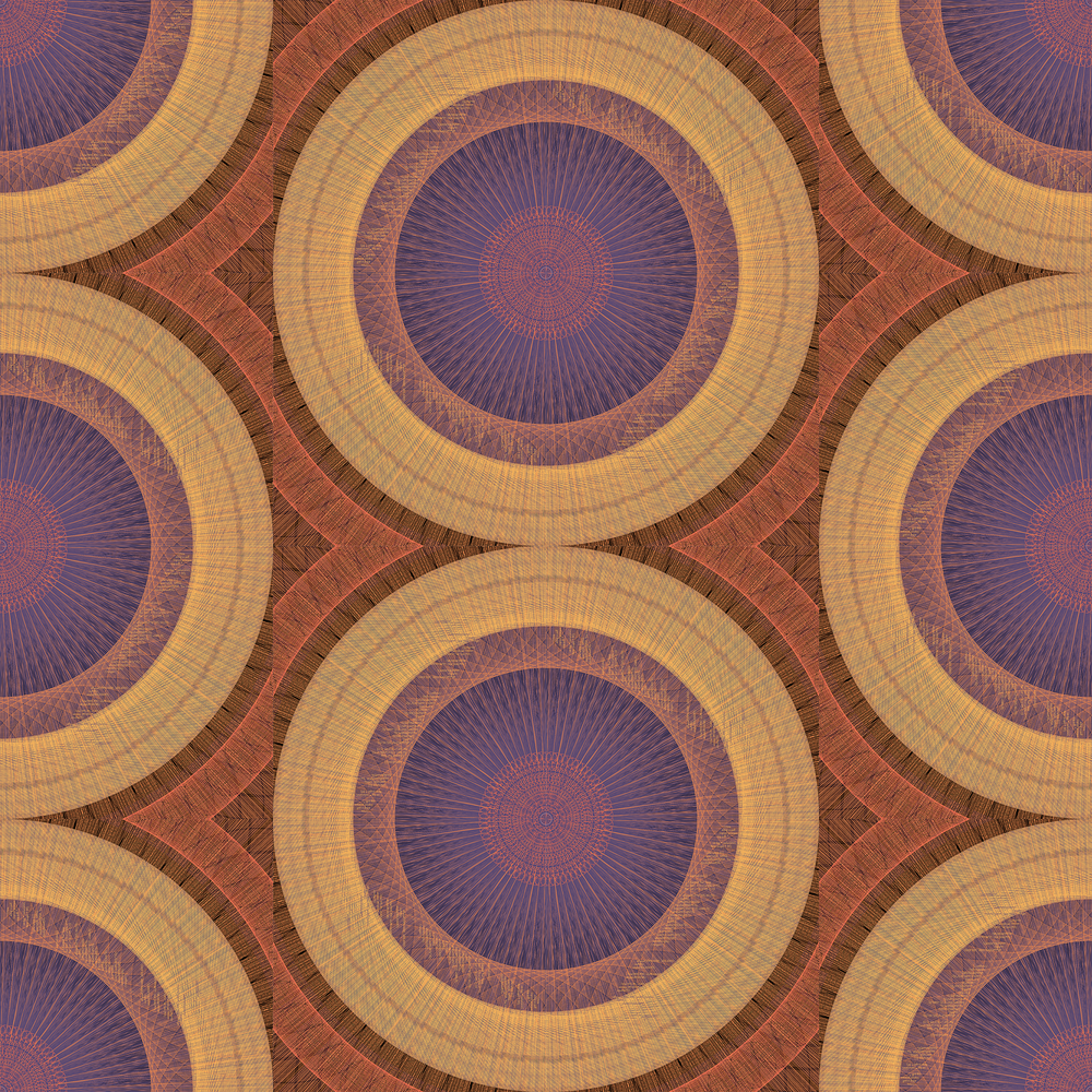 A textile pattern created through Processing code language.
