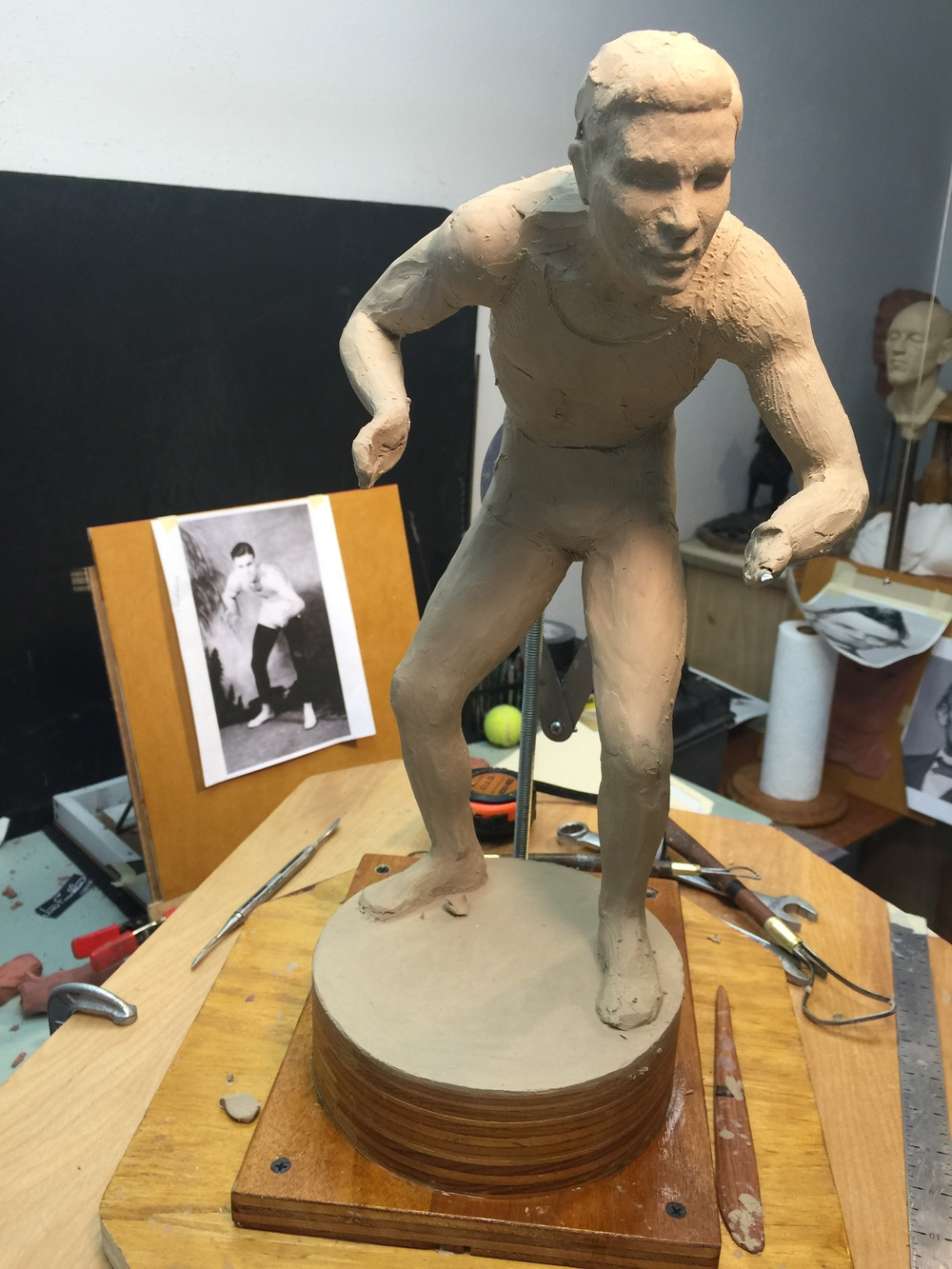 Jim Franklin has started working on the Jack VanBebber clay sculpture