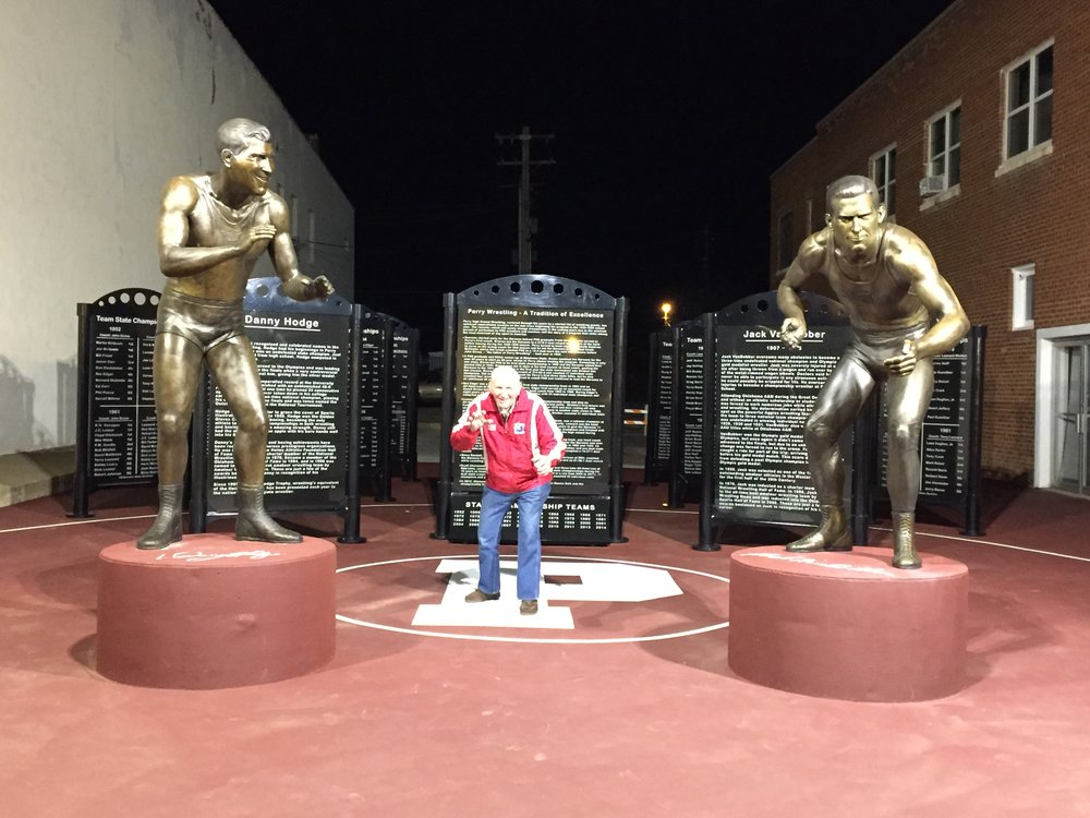 Danny Hodge at the Perry Wrestling Monument Park