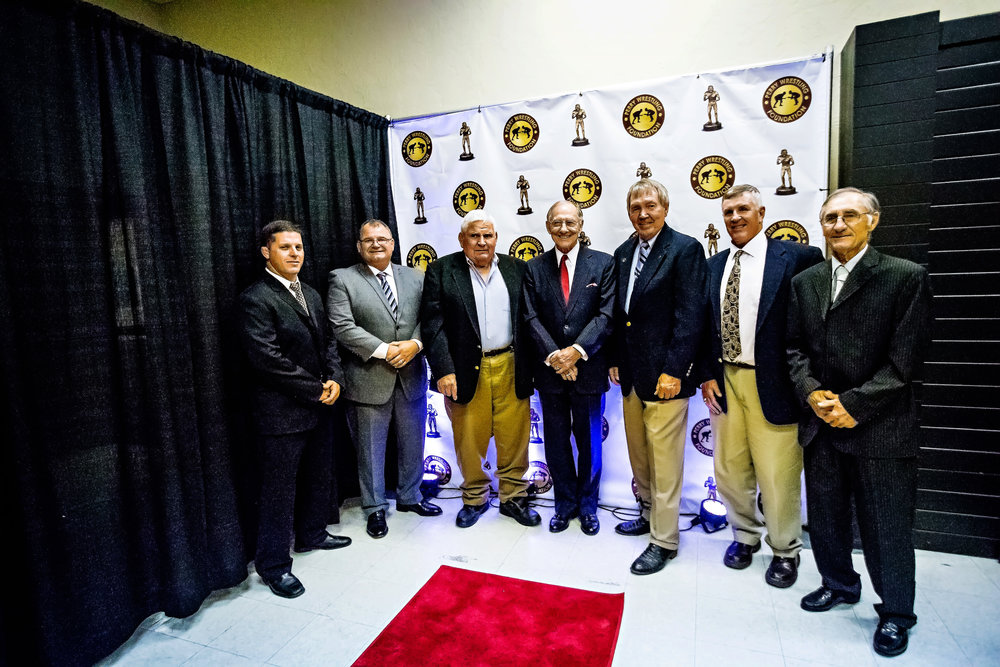 Former Perry Coaches L-R: Ronnie Delk, Scott Chenoweth, Fred Waltermire, Rex Edgar, Terry Leonard, Steve Randall, Leonard Shelton