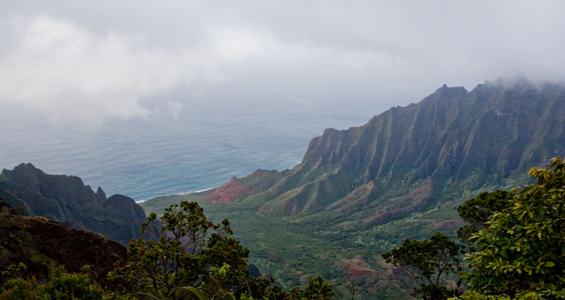 hawaii waimea view on napali coast