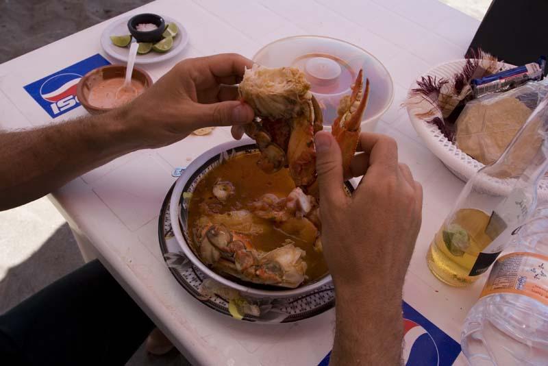 Cuastecomate, crab soup