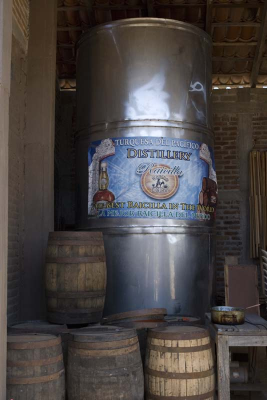 Tenacatita, Tequila distillery tank