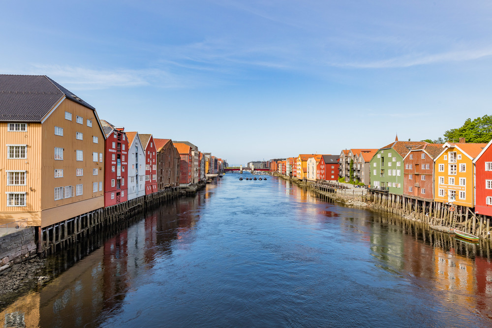 The canal in Trondheim.