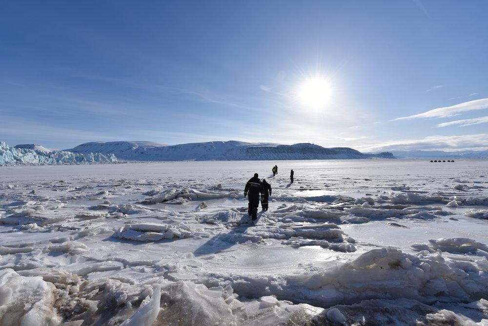 Vandring på isen