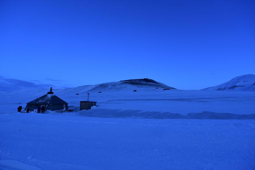 Det magiske blå lyset på vinteren