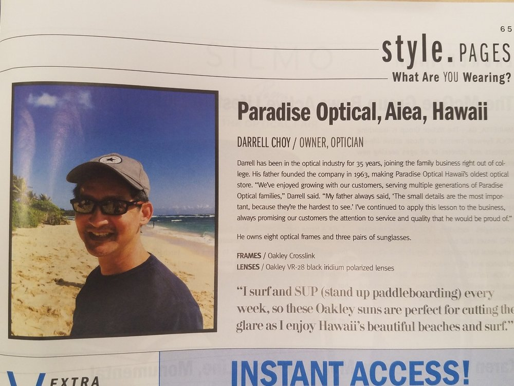 The Next Generation - Owner Darrell Choy was featured in Vision Monday Magazine.