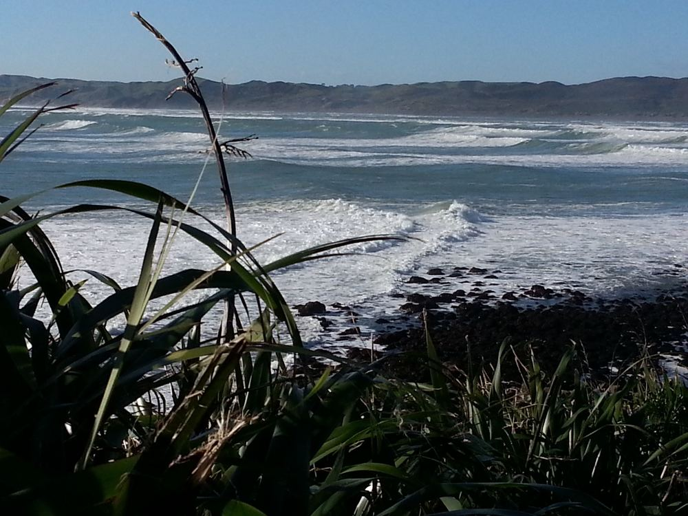 Surf - and rip - at Raglan [photo by Peter Hallwright]