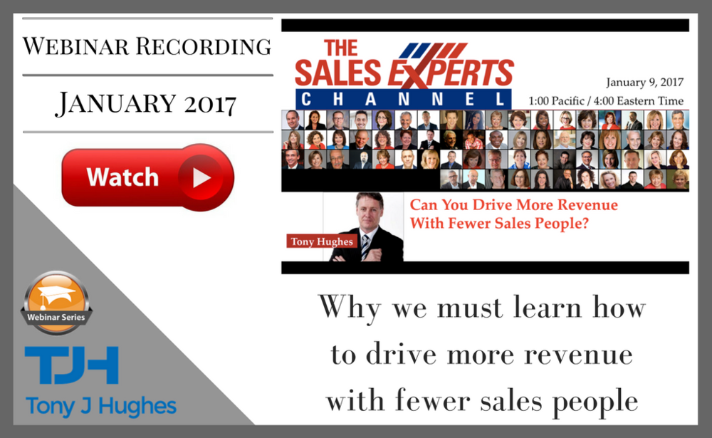 Tony Hughes webinar Sales Experts Channel
