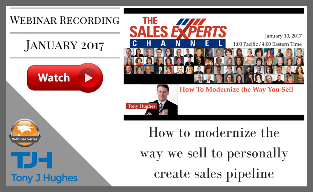 The Sales Experts Channel webinar Tony Hughes